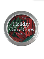 Cavallini Cavallini Mini Wooden Clips In Tin Holiday