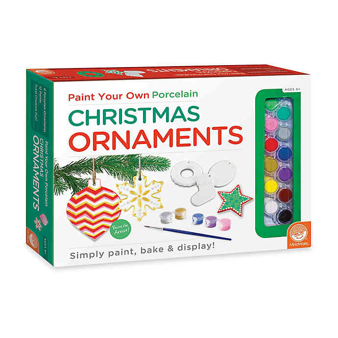 Mindware Paint-Your-Own Christmas Ornaments