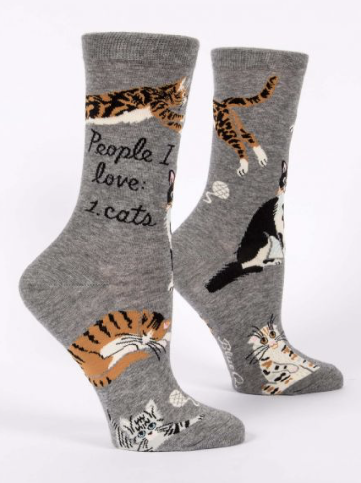 Blue Q Crewsocks People I Love: Cats