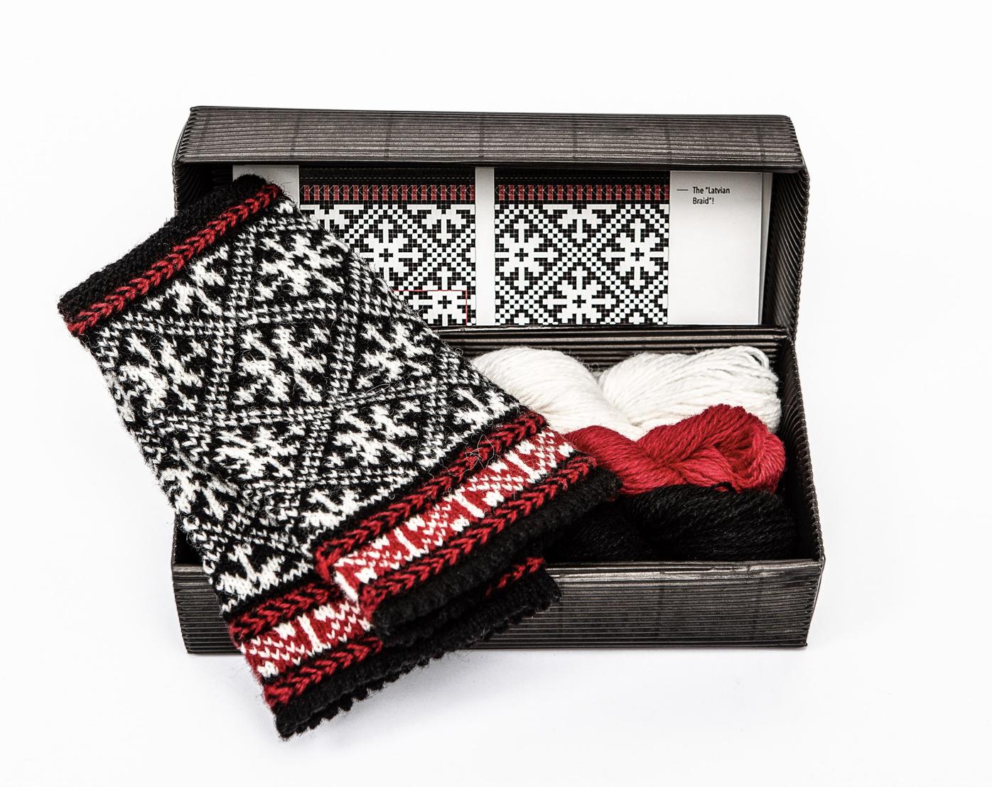 """Hobbywool Fingerless Mittens Knitting Kit """"Twilight"""" 9"""