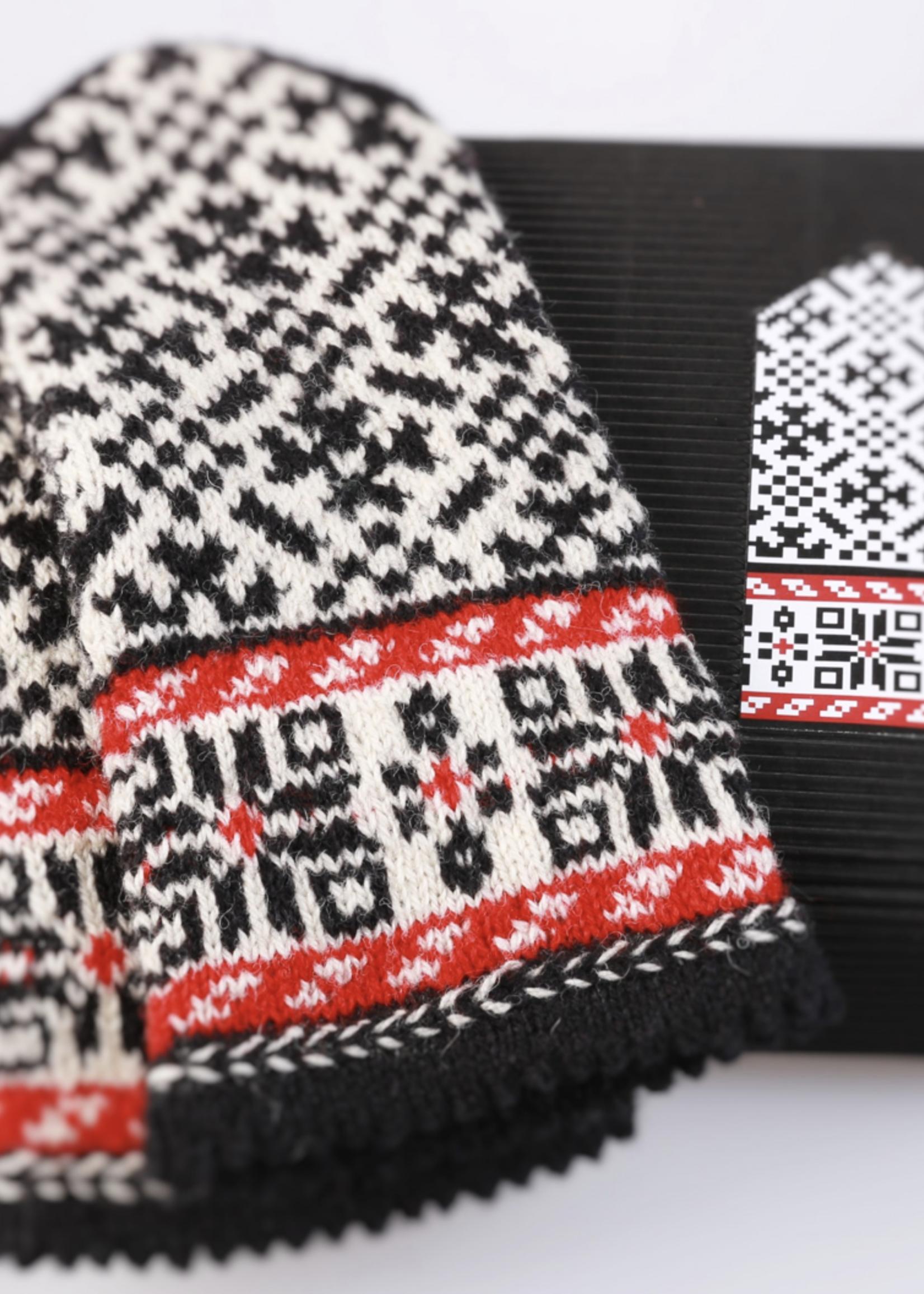 "Hobbywool Hobbywool Mittens Knitting Kit ""Latvian Gray"" No.11"