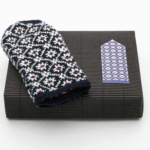 """Hobbywool Hobbywool Mittens Knitting Kit """"Midnight Flakes"""" No.4"""