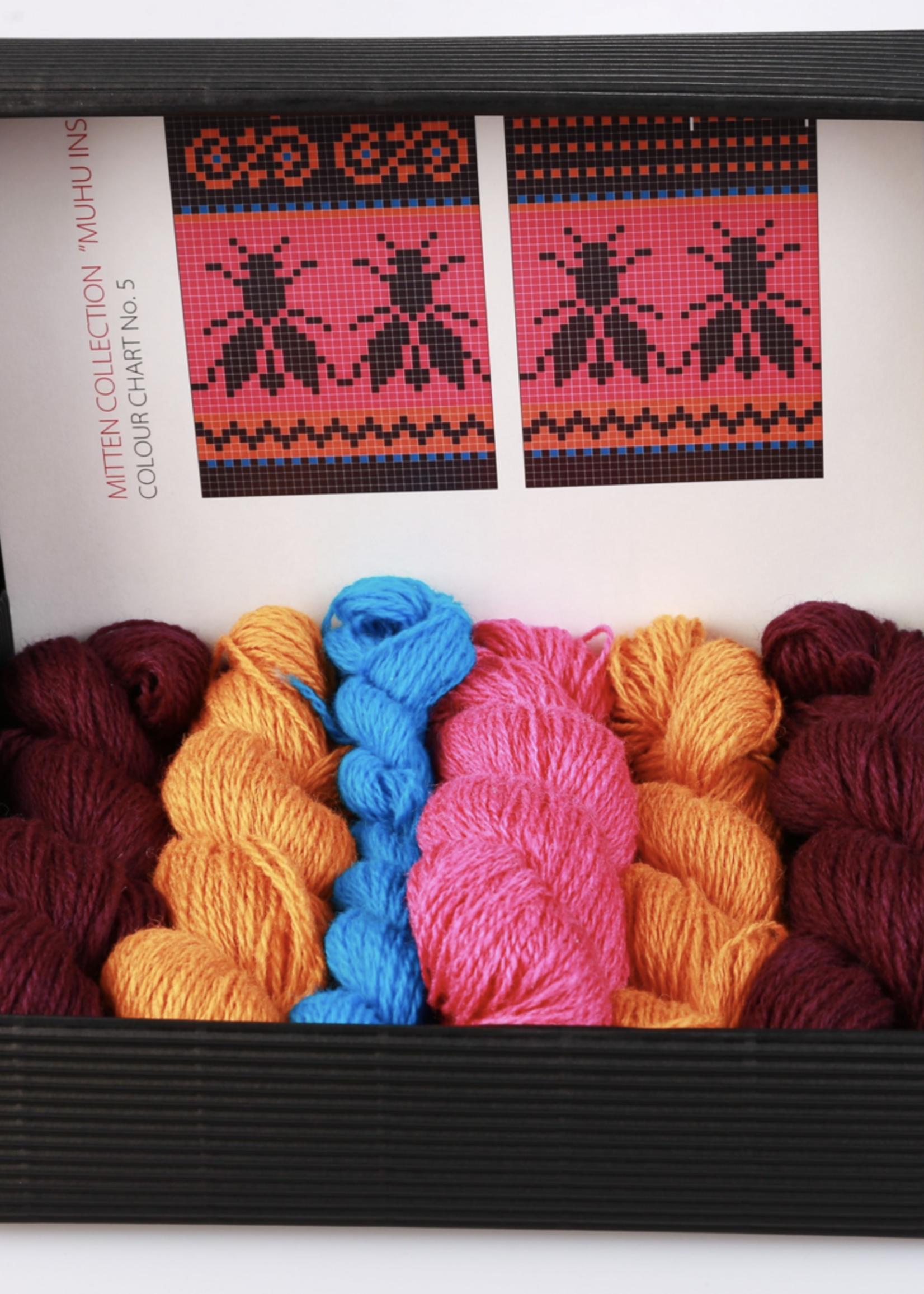 "Hobbywool Hobbywool Mittens Knitting Kit ""Muhu"" No.5"