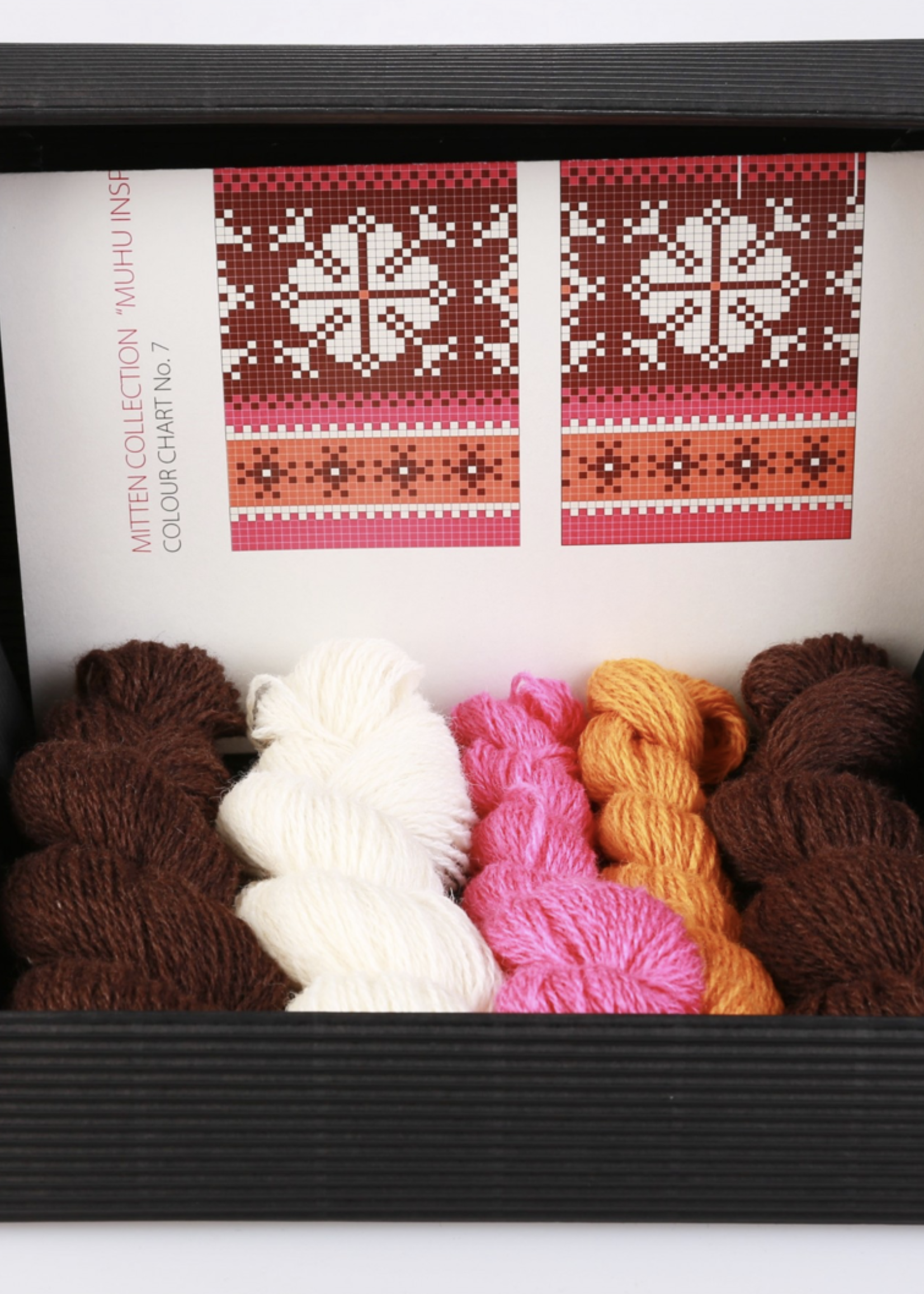 "Hobbywool Hobbywool Mittens Knitting Kit ""Muhu"" No.7"