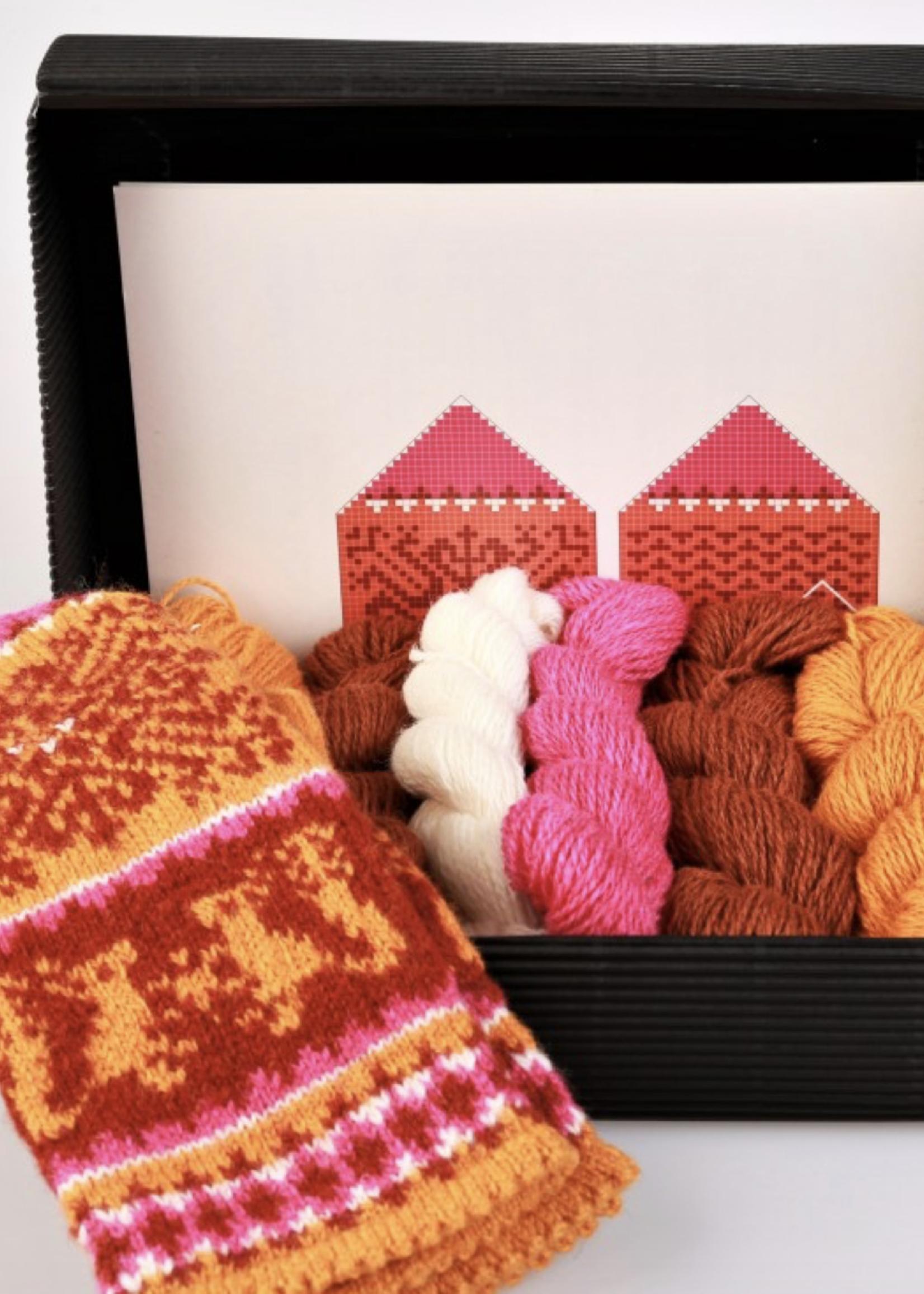 "Hobbywool Hobbywool Mittens Knitting Kit ""Muhu"" No.1"