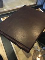 Fiorentina Fiorentina Landscape Format Book 12x8-1/4, Hard Bound Genuine Leather, Dark Brown, Lined Pages