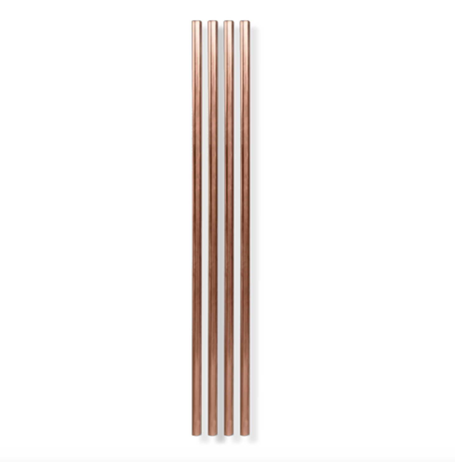 The Pineapple Co 10'' Copper Plated Straw (Set of 4)