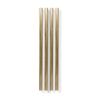 The Pineapple Co 5'' Gold Plated Straw  (Set of 4)
