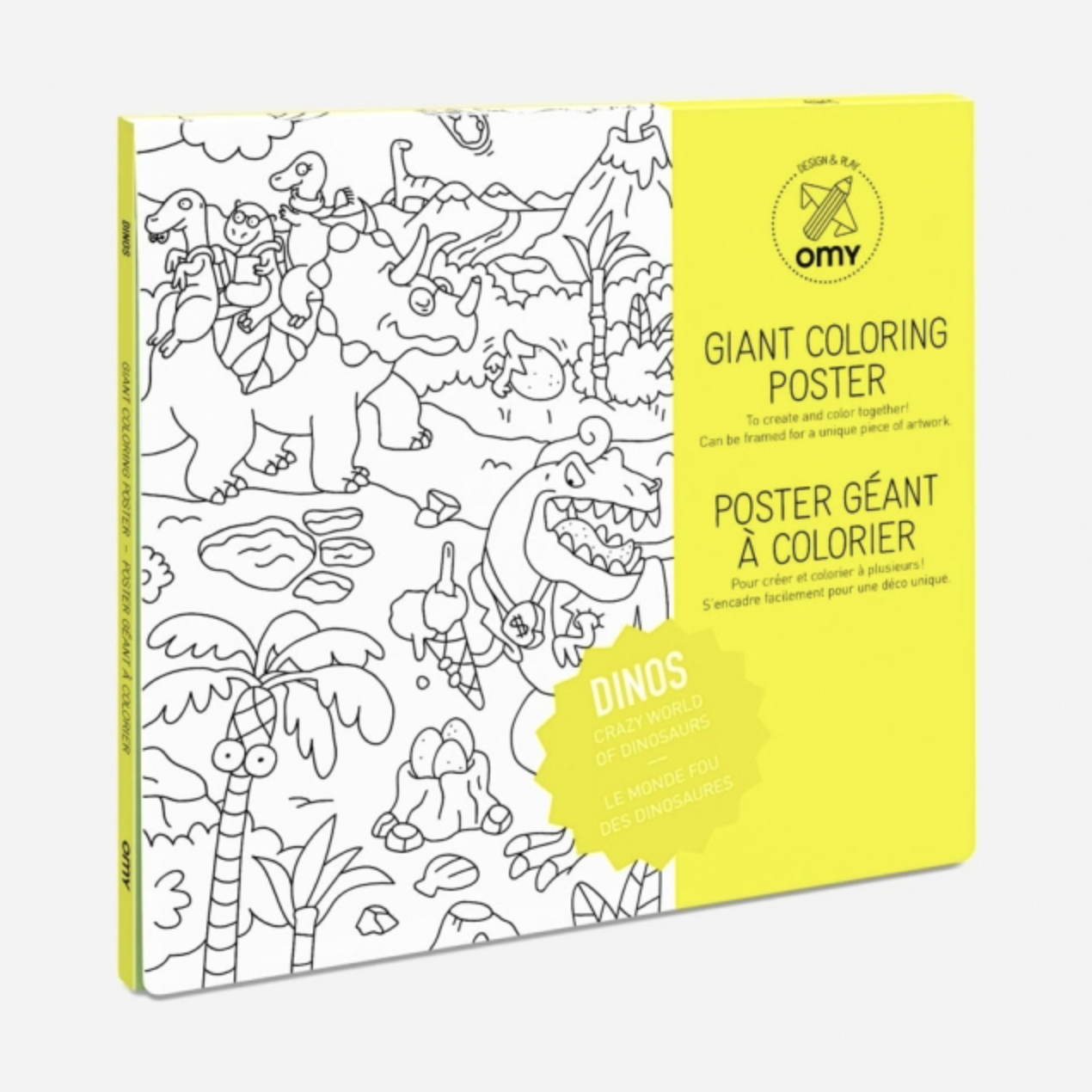 OMY Coloring Poster Dinosaur