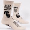 Blue Q Men's Socks Whiskers