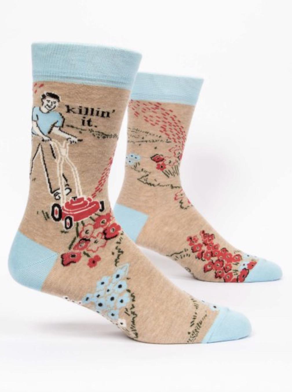 Blue Q Men's Socks Killin' It