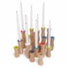 Teroforma Avva Trio Candlesticks Set of 3 Polymer Gray