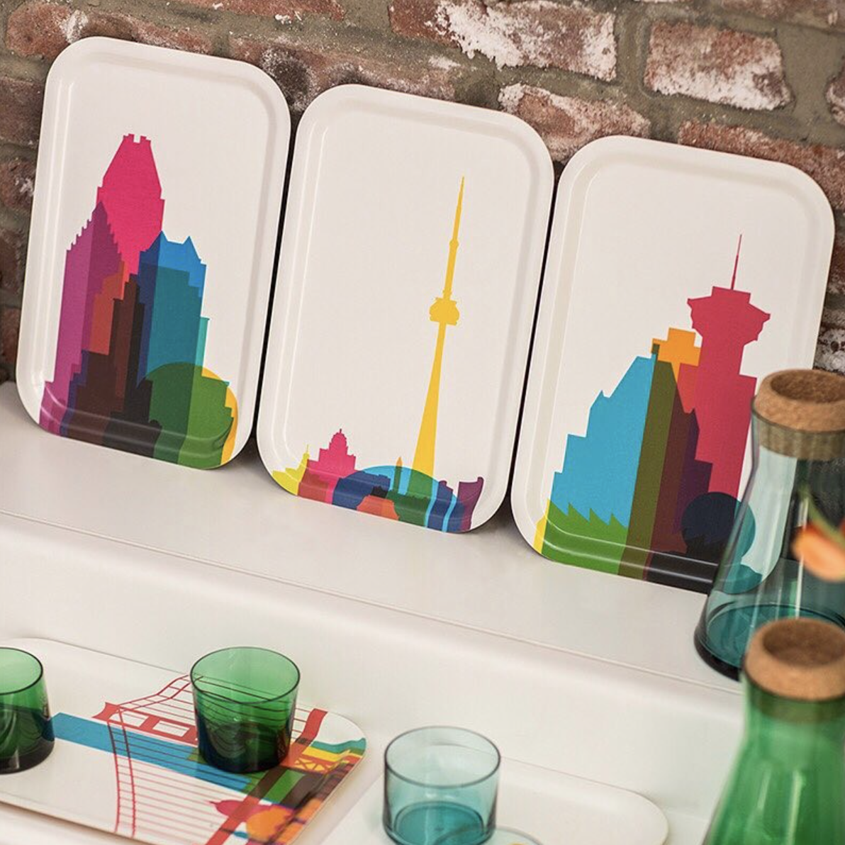 Teroforma City Shapes Cocktail Tray Montreal