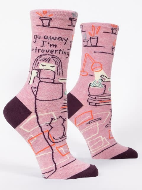 Blue Q Women's Sock Go Away I'm Introverting