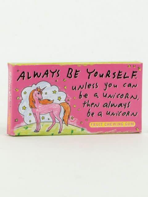 Blue Q Gum Always Be A Unicorn