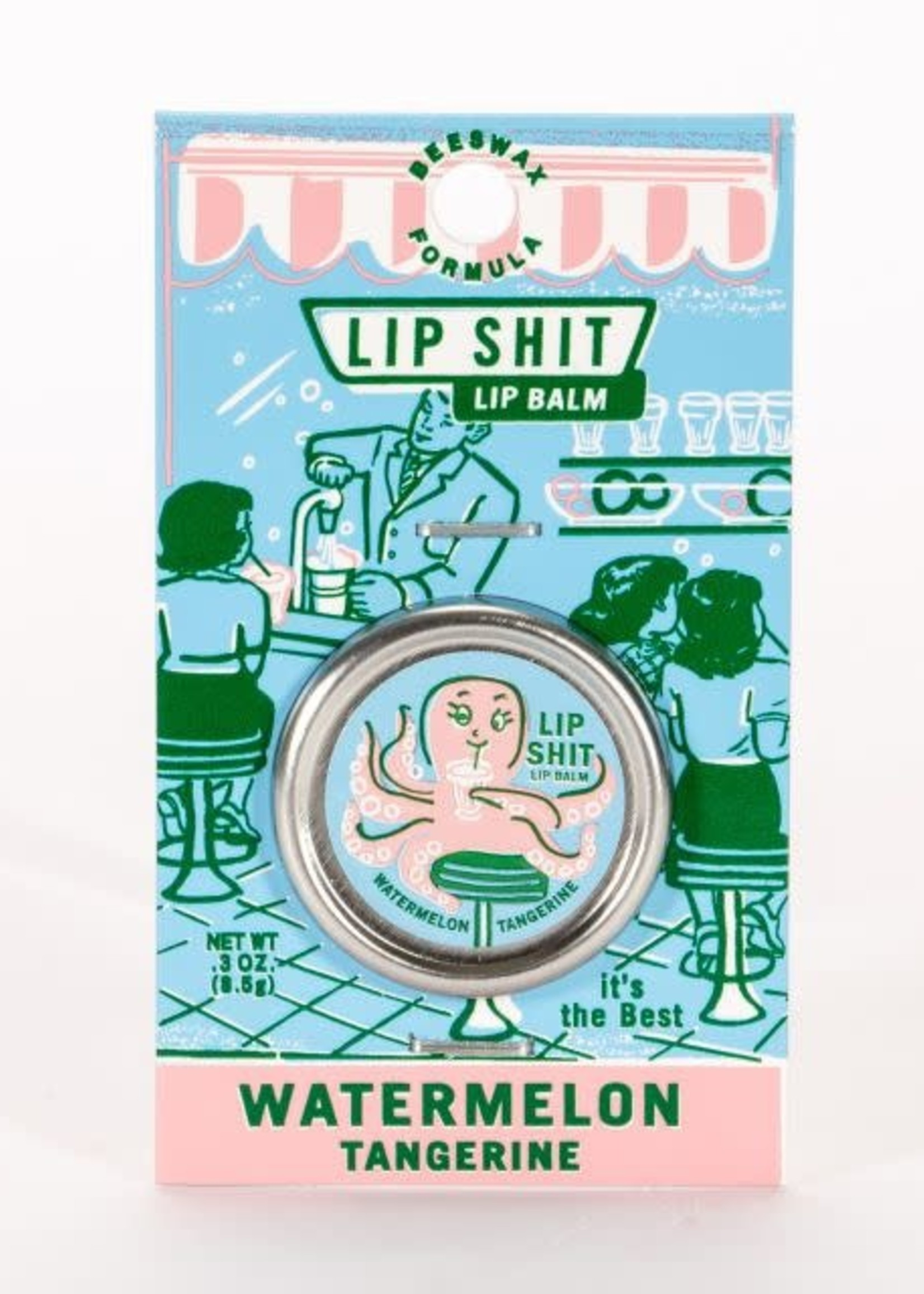 Blue Q Blue Q Lip Shit Watermelon Tangerine