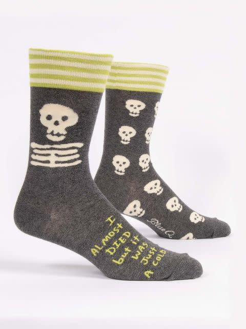 Blue Q Men's Socks I Almost Died