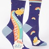 Blue Q Women's Socks Shitting Rainbows