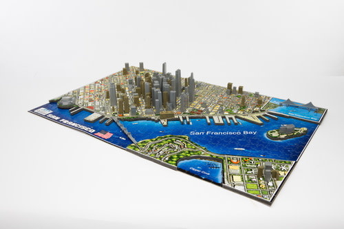 4D Cityscape Puzzle - North American Cities