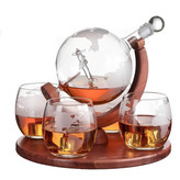 Wine Savant Wine Savant Whiskey Decanter Airplane 4 glasses