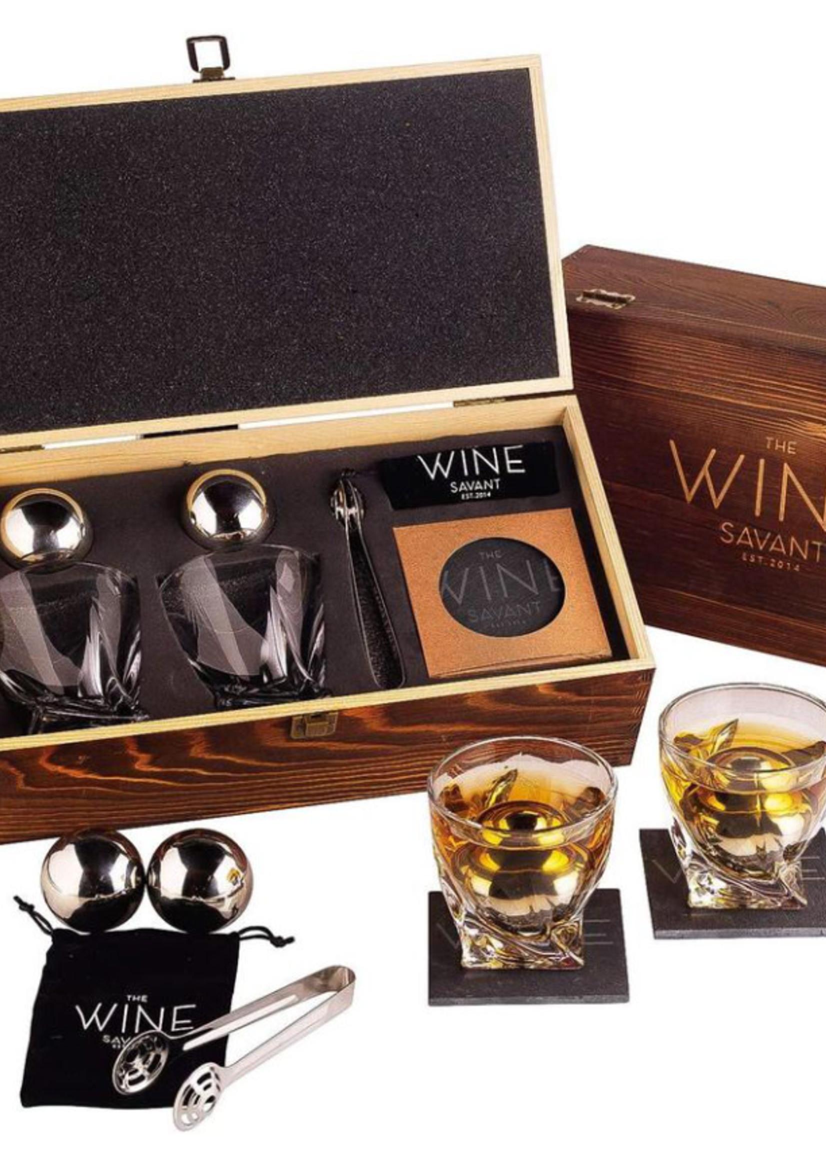 Wine Savant Wine Savant Whiskey Gift Set 2 glasses