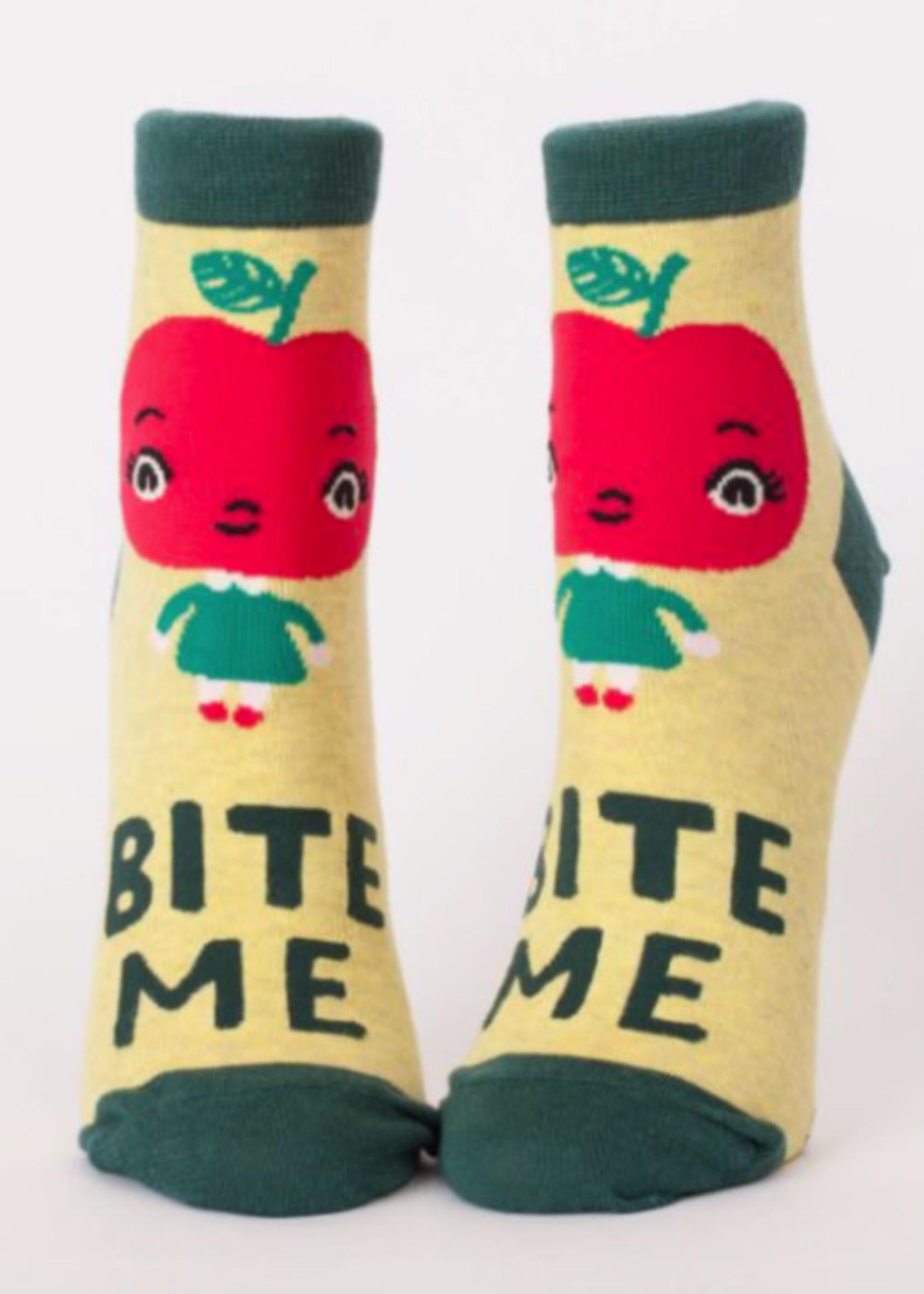 Blue Q Blue Q Ankle Socks Bite Me