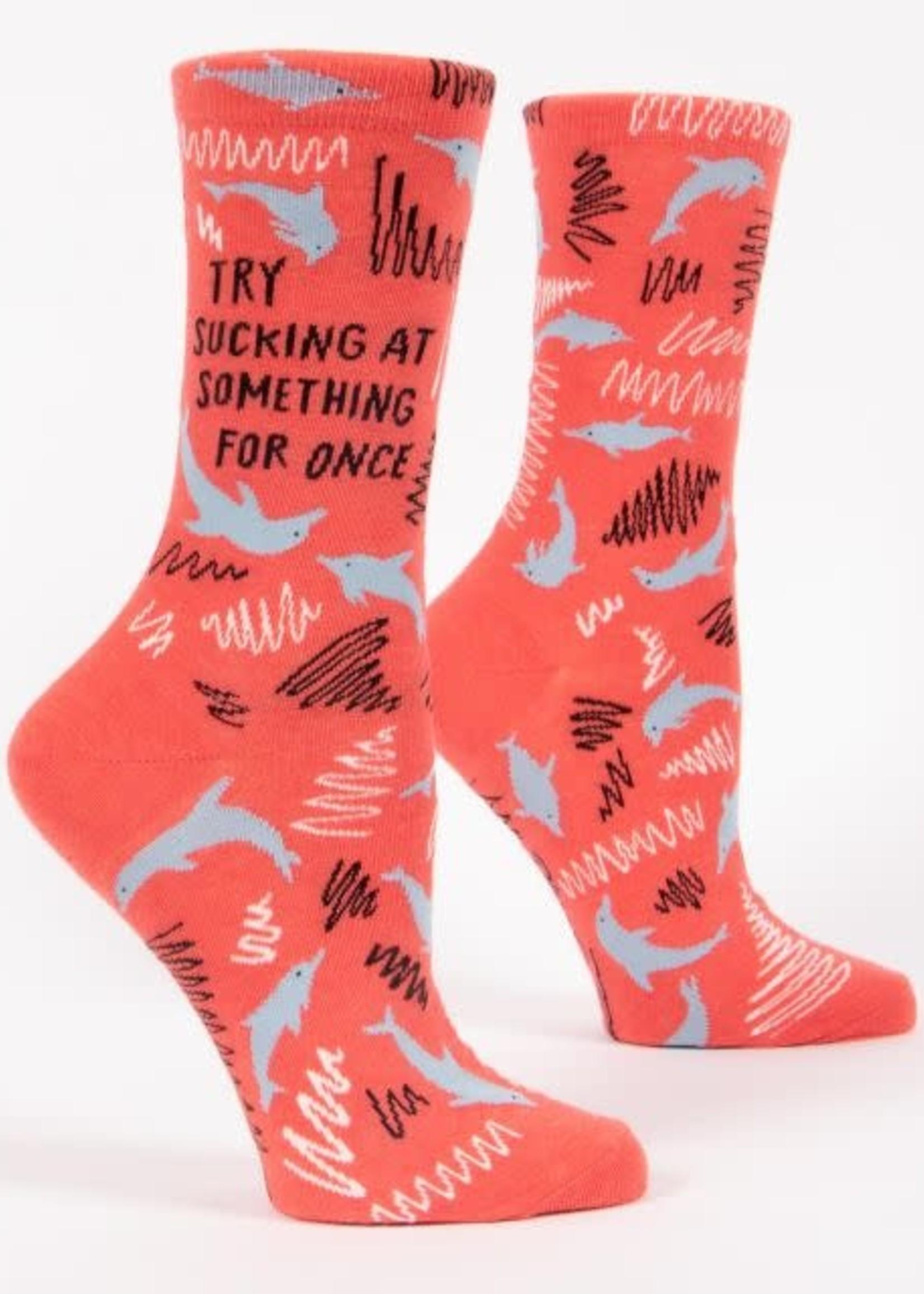 Blue Q Blue Q Women's Socks Sucking At Something