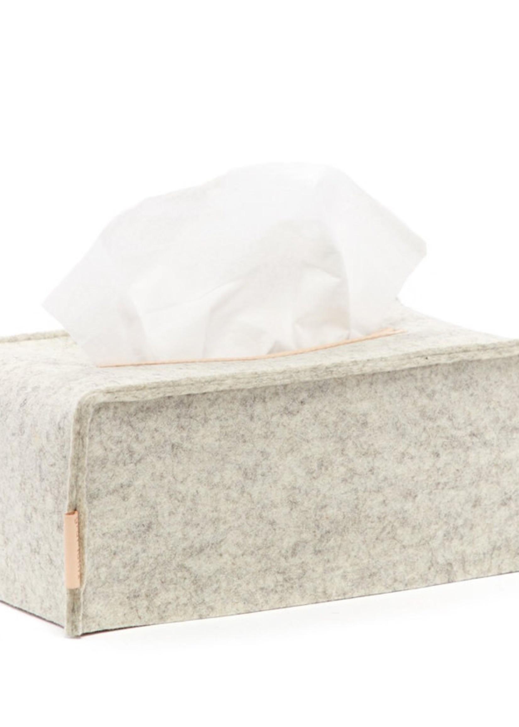 Graf Lantz Graf Lantz Tissue Box Cover Large Heather White Felt