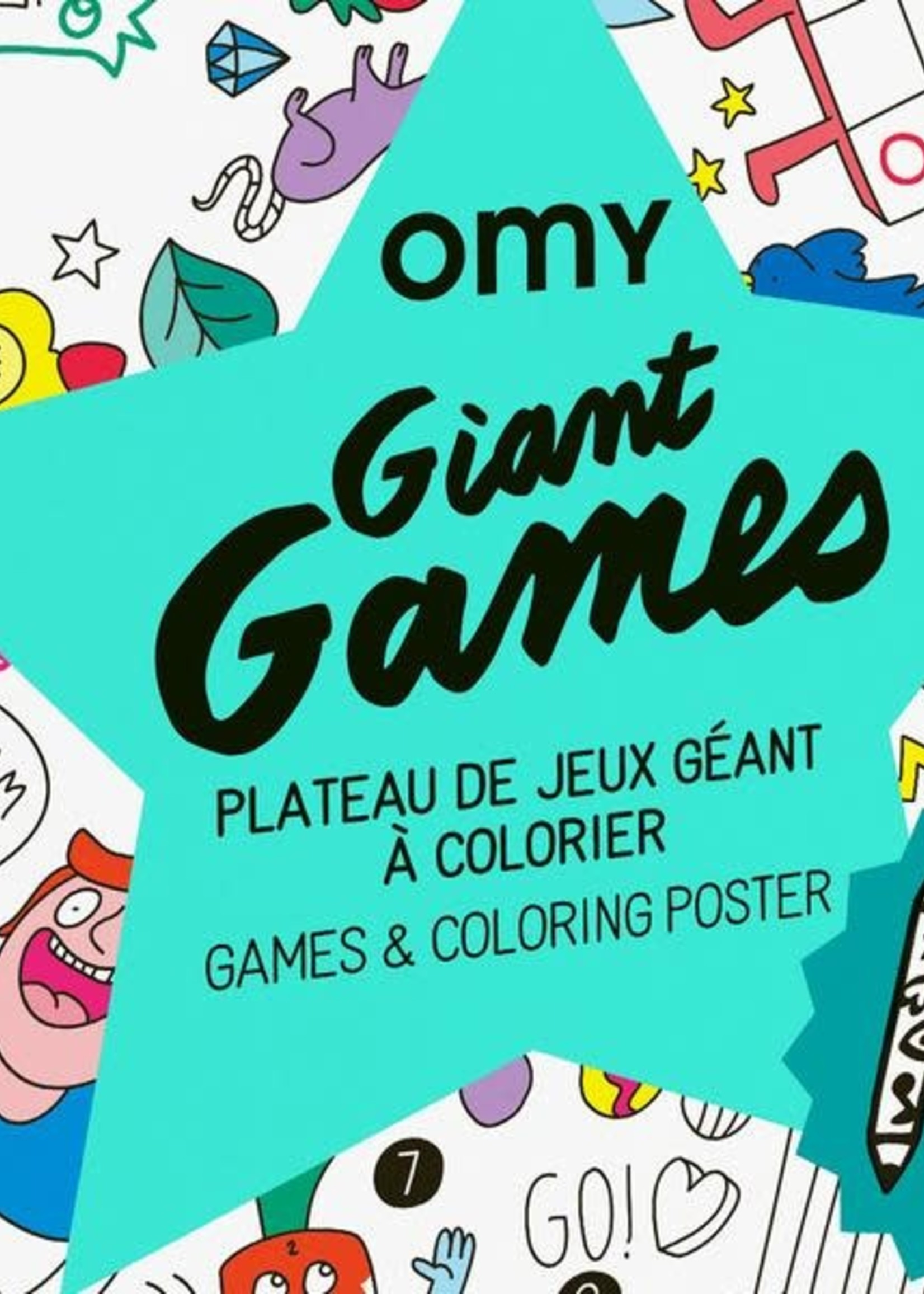 OMY OMY Giant Poster Games + Pencil