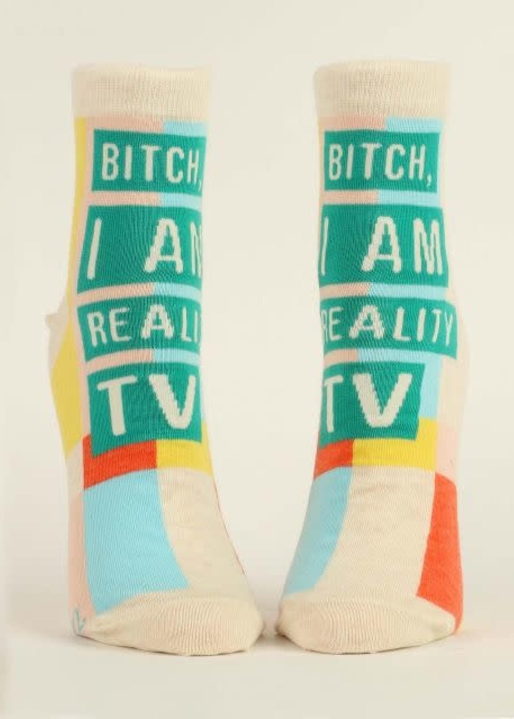Blue Q Blue Q Ankle Socks I am Reality TV