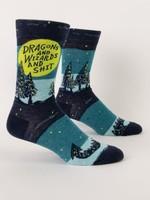 Blue Q Blue Q Men's Socks Dragon & Wizards & Shit