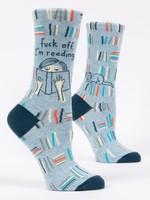 Blue Q Blue Q Women's Socks Fuck off I'm Reading
