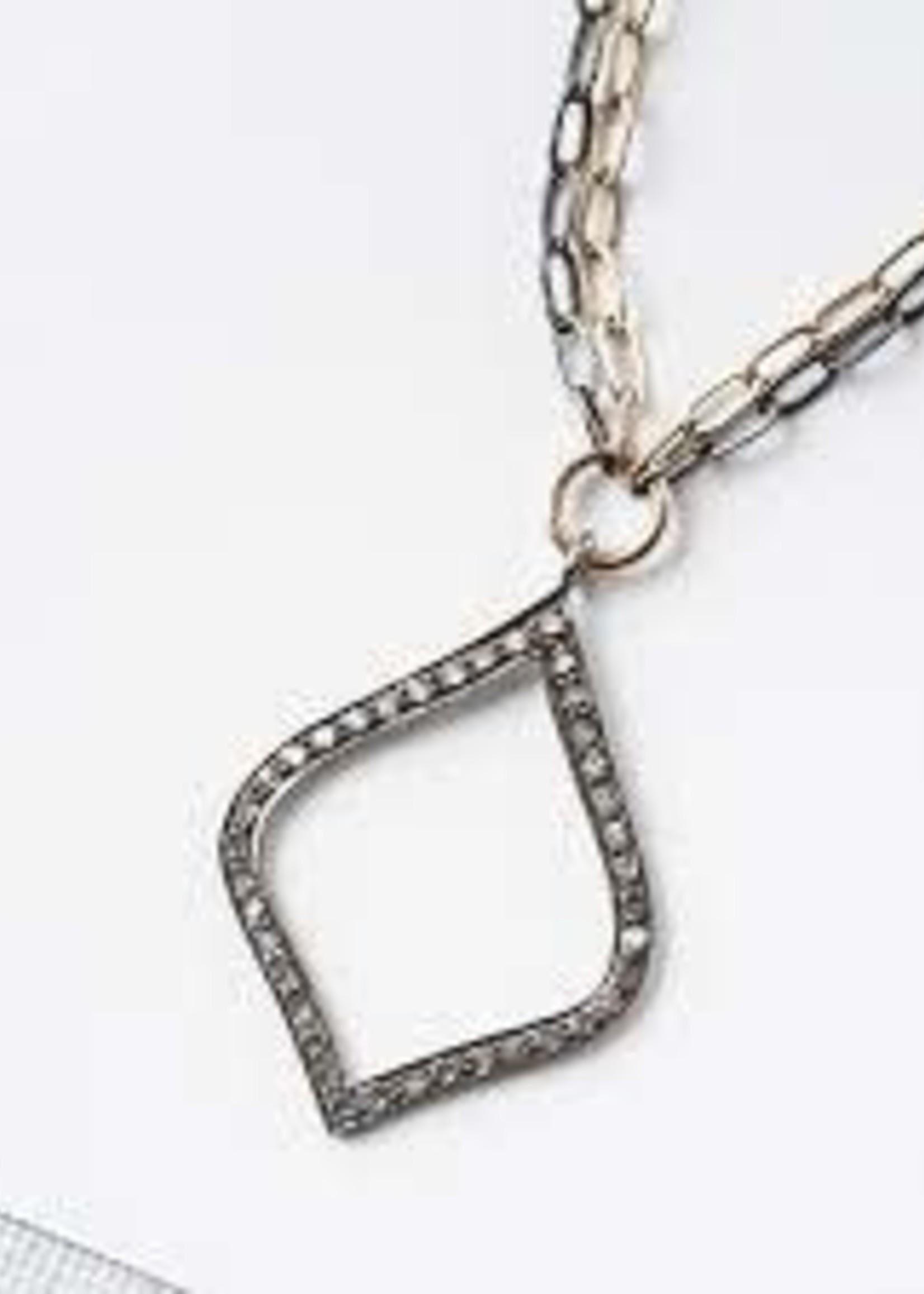 Original Hardware Original Hardware Everyday Diamond Arabesque Mixed Metal Necklace