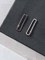 Original Hardware Original Hardware Framed Stud Earring Black
