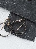 Original Hardware Original Hardware Shimmery Organic Circle Earrings S