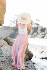 Space46 Kelly Maxi Skirt - Blush Pink