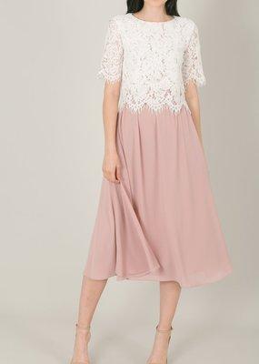 Space46 Kelly Midi Skirt - Millenial Pink