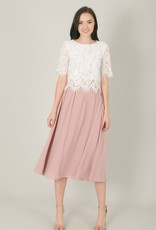 Space46 Kelly Midi Skirt - Millenial Pink