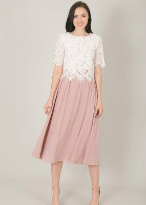 Space46 Kelly Midi Skirt - Blush Pink