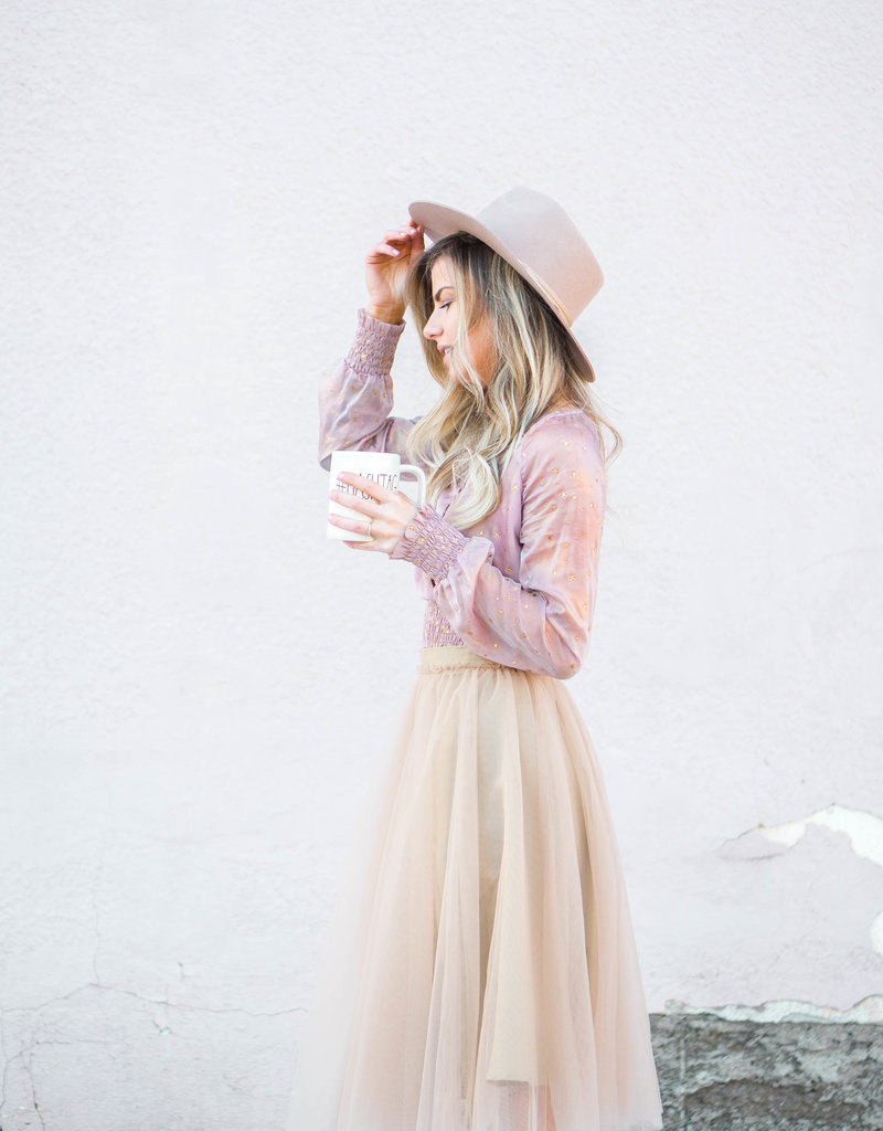 Space46 Adrian Soft Tulle Skirt - Coffee