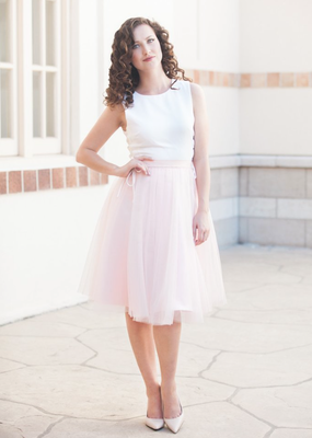 Space46 Adrian Soft Tulle Skirt - Dusty Blush