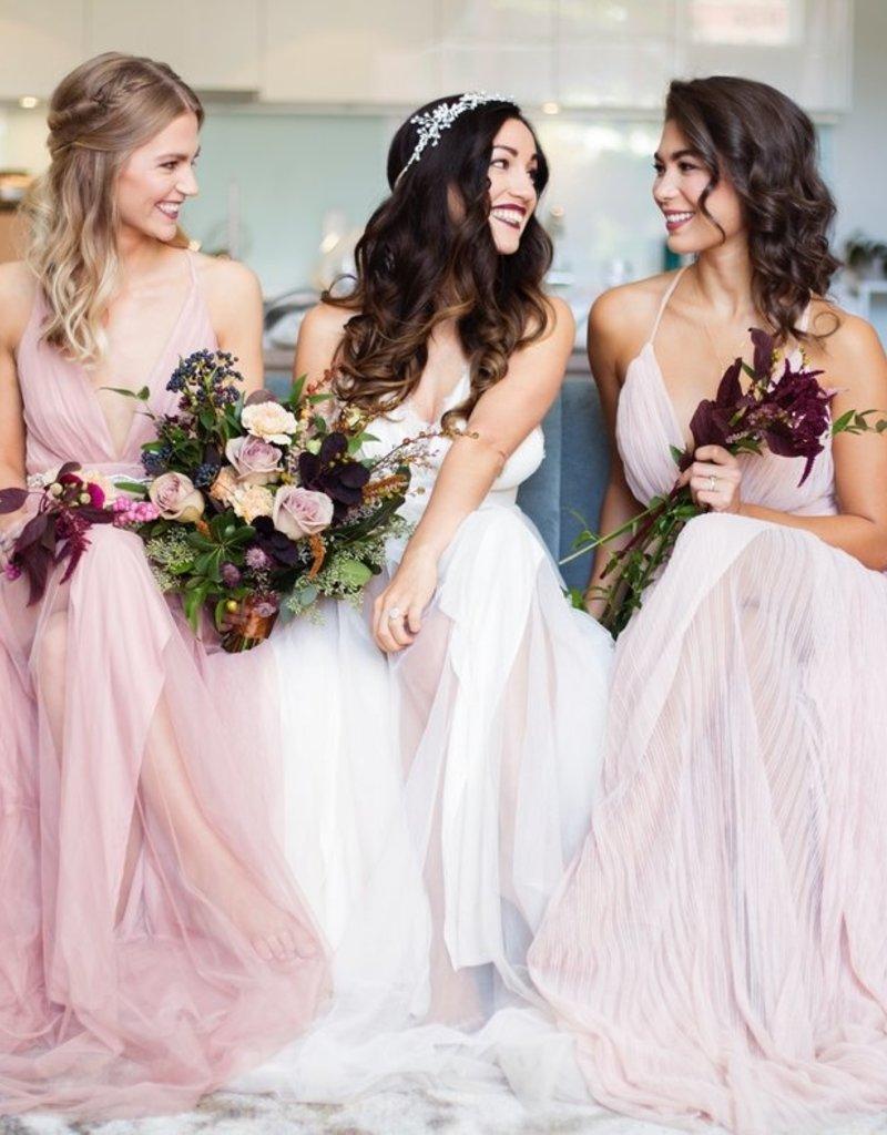 Luxxel Alexandra Lace Detail Maxi Dress