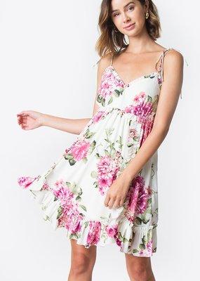 Sugarlips Alanna Floral Ruffle Dress