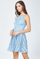 Adelyn Rae Rhea Woven Fit and Flare Lace Dress