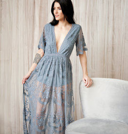 Honey Punch Lily Embroidered Lace Maxi Jumpsuit *More Colours*
