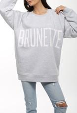 Brunette the Label BTL - Brunette Big Sister Sweatshirt in Pebble Grey