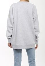 Brunette the Label BTL - Redhead Big Sister Sweatshirt in Pebble Grey