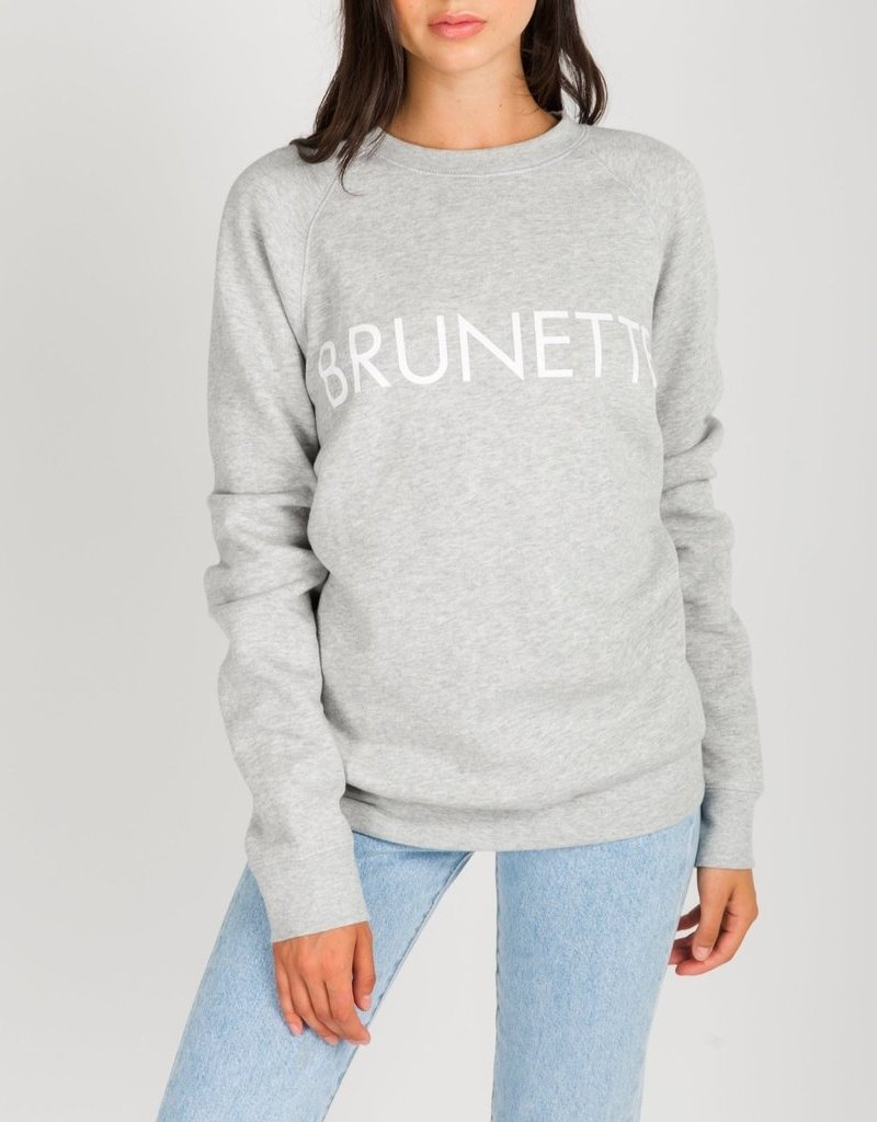 Brunette the Label Brunette Crew Sweatshirt in Pebble Grey