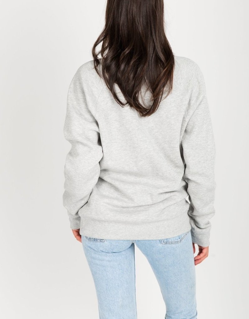 Brunette the Label BTL - Blonde Sweatshirt in Pebble Grey