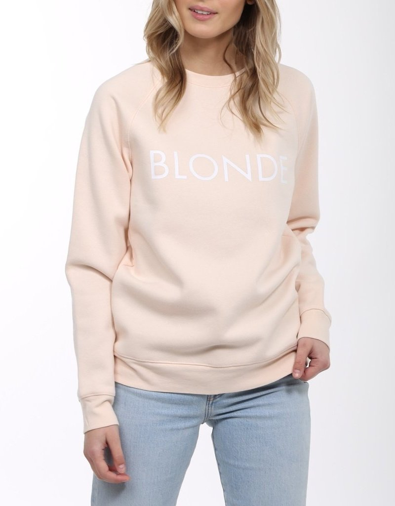 Brunette the Label BTL - Blonde Sweatshirt in Peach